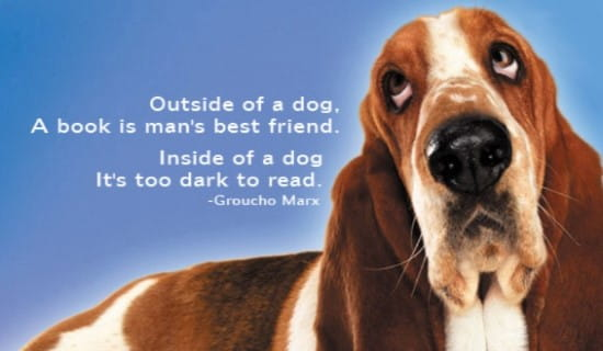 Outside A Dog ecard, online card