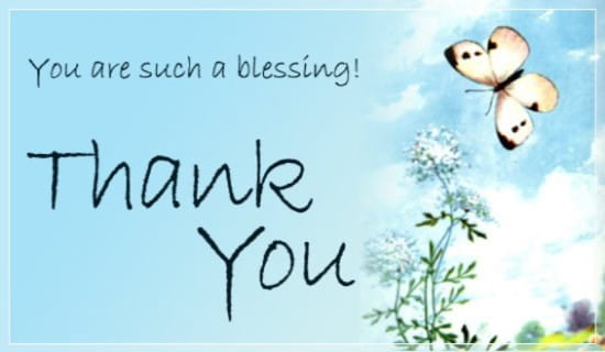 Thank You ecard, online card