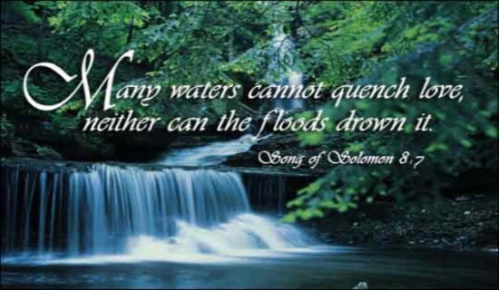Many Waters Cannot Quench Love ecard, online card