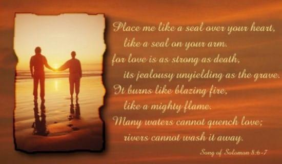 Song Of  Solomon 8:6-7 ecard, online card