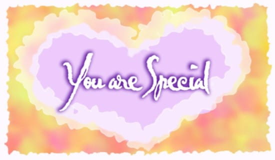 You Are Special ecard, online card