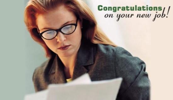 New Job - Congratulations ecard, online card