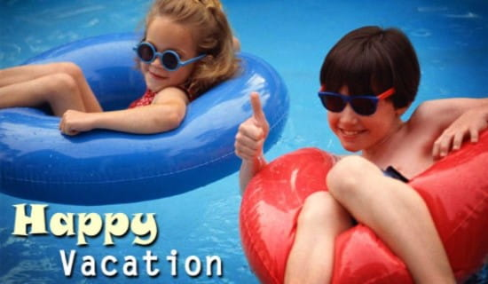 Kids on Vacation ecard, online card