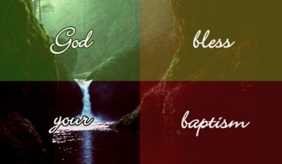 Baptism ecard, online card