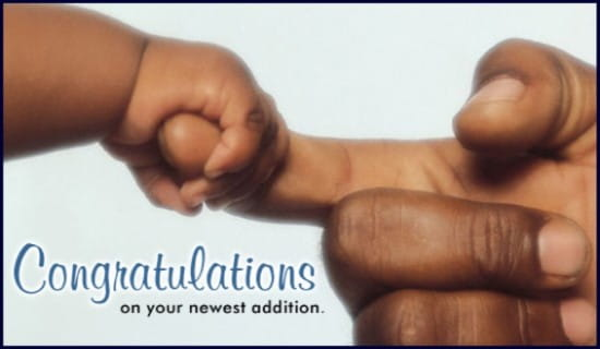 Congratulations On Your New Addition ecard, online card