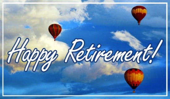 Happy Retirement ecard, online card