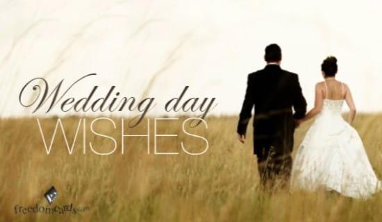 Wedding Day Wishes ecard, online card