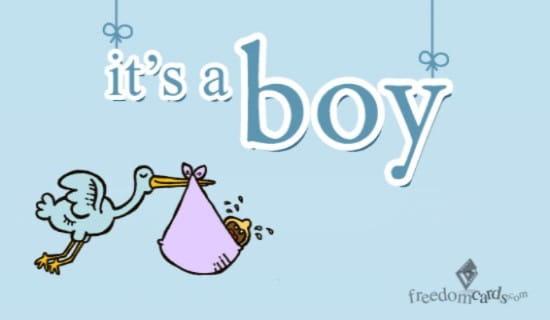 It's a Boy ecard, online card