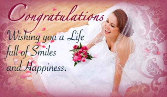 Wedding Congrats ecard, online card