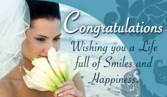 Wedding Congrats ecard, online card