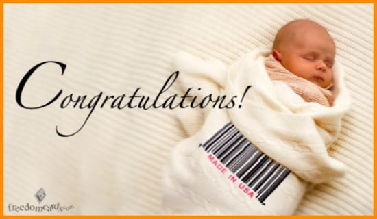 Congratulations on Your New Baby! ecard, online card
