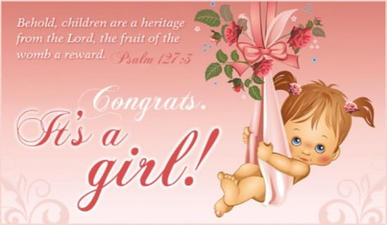 It's a Girl ecard, online card