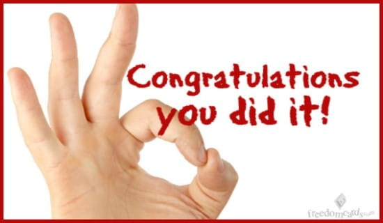 Congratulations You Did It! ecard, online card