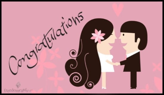 Congratulations, Wedding ecard, online card