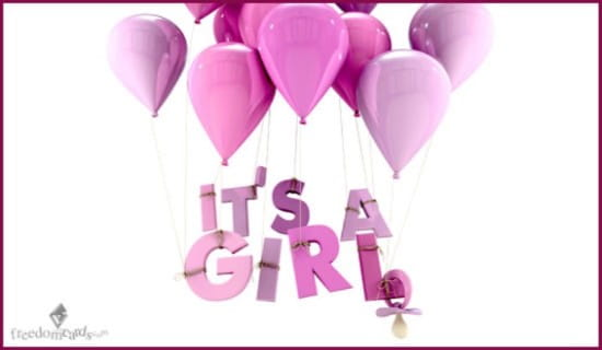 It's a Girl! ecard, online card