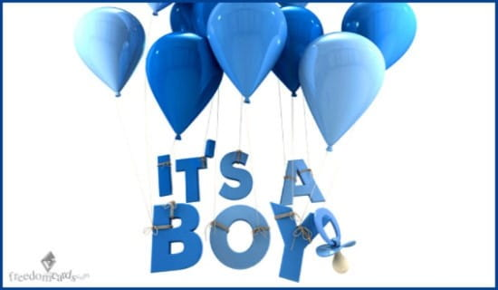 It's a Boy! ecard, online card