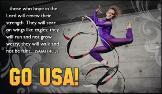 Rhythmic Gymnast ecard, online card