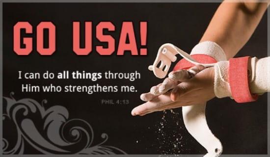 Gymnast  ecard, online card