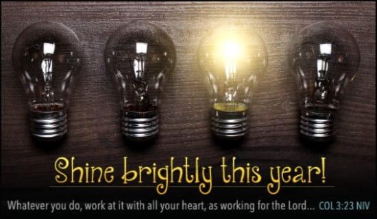 Shine Brightly This Year ecard, online card