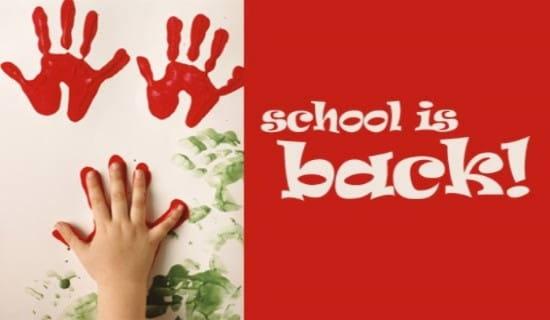 School Is Back! ecard, online card