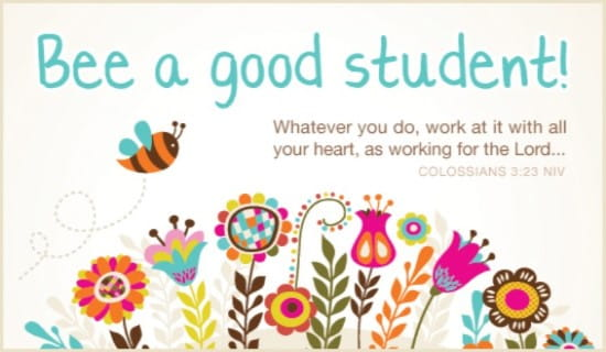 Bee a Good Student ecard, online card