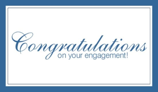 Engagement ecard, online card