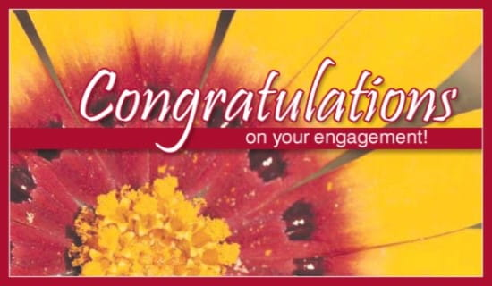 Engagement ecard, online card