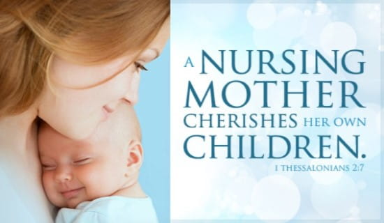 Nursing Mother ecard, online card
