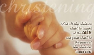 Christening - Taught ecard, online card