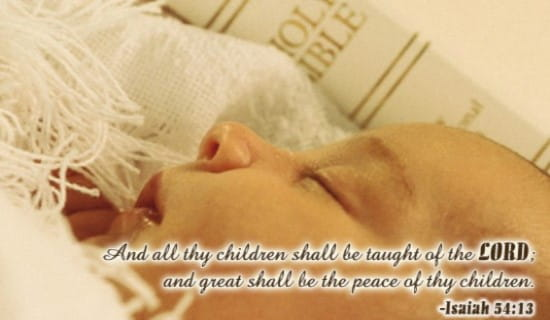 Christening - Taught Of The Lord ecard, online card