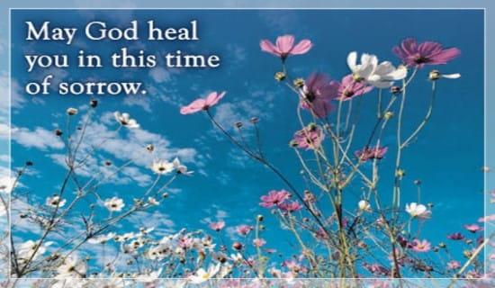 God Heals Sorrow ecard, online card