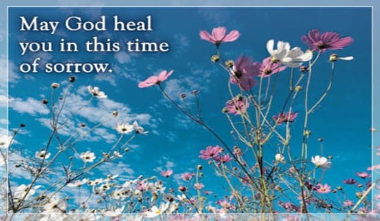 God Heals Sorrow ecard, online card