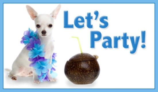 Let's Party ecard, online card