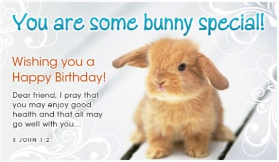 Free Some Bunny Ecard Email Free Personalized Birthday Cards Online
