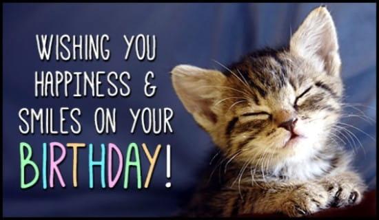 Birthday Smiles ecard, online card