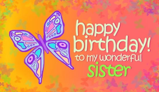 Sister Ecard Online Card
