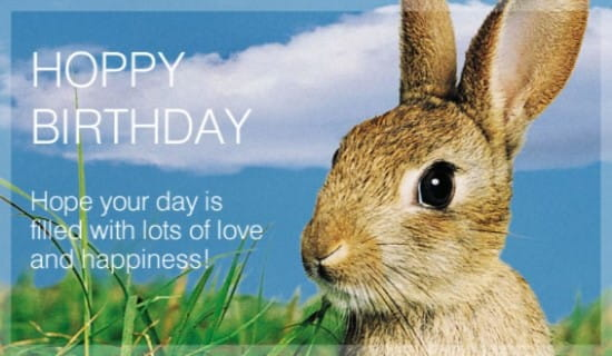 Hoppy Birthday ecard, online card