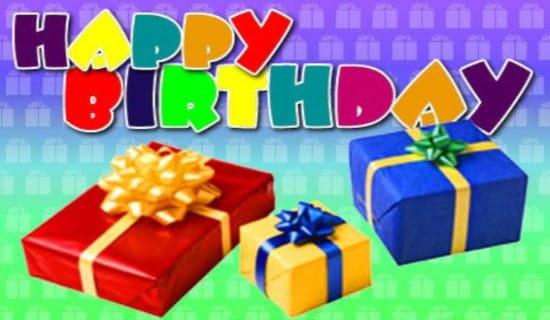 Happy Birthday - Presents ecard, online card