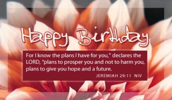 Jeremiah 29:11 ecard, online card