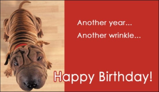 Another Wrinkle ecard, online card