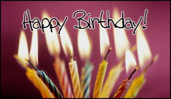 Birthday Candles ecard, online card