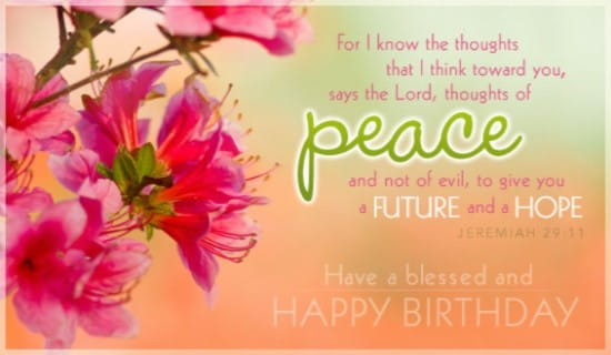 Blessed Birthday ecard, online card