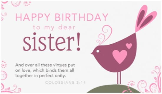 Electronic Birthday Cards For Sister