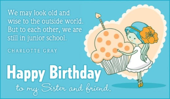 Birthday - Sister ecard, online card