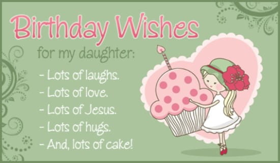 Birthday - Daughter ecard, online card