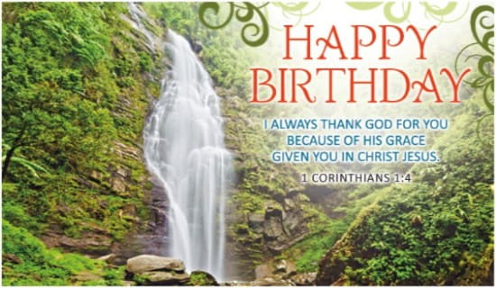 Birthday Waterfall ecard, online card
