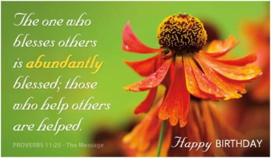 Abundantly Blessed ecard, online card