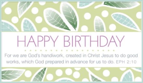 God's Handiwork ecard, online card
