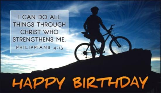 Birthday Strength ecard, online card