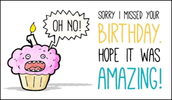 Belated Birthday ecard, online card